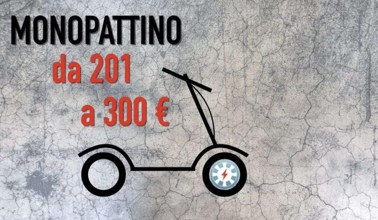prezzo da 201 a 300 euro monopattino elettrico low cost