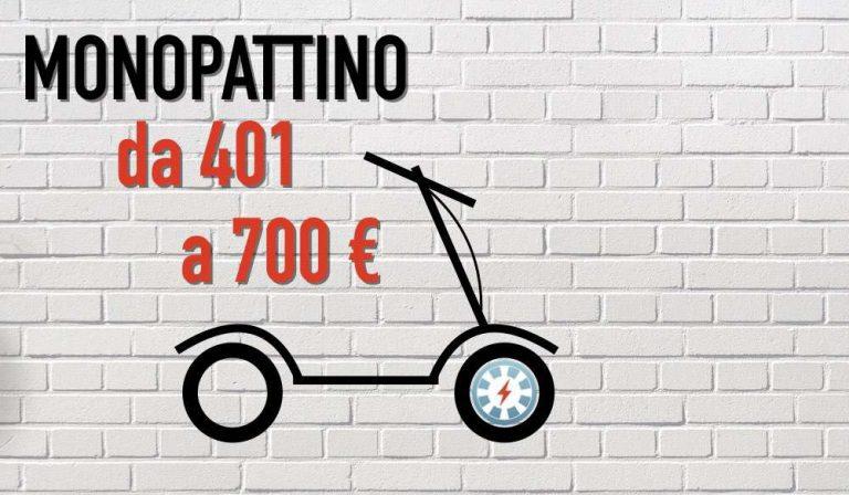 da 401 a 700 euro monopattino elettrico low cost