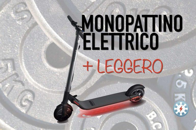 monopattino elettrico più leggero