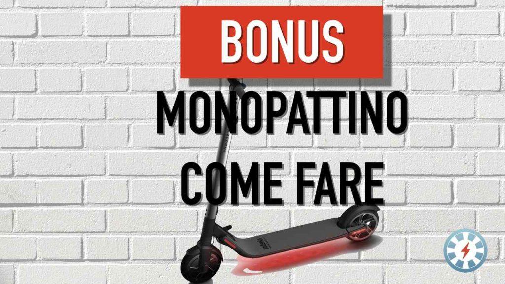 bonus monopattino elettrico come richiederlo